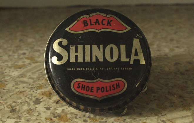 The original Shinola shoe polish packaging.