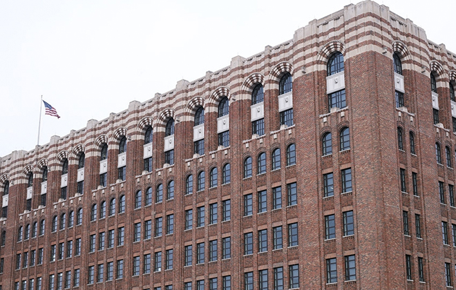 The Shinola headquarters and manufacturing facility are located in Detroit inside the historic Argonaut Building.